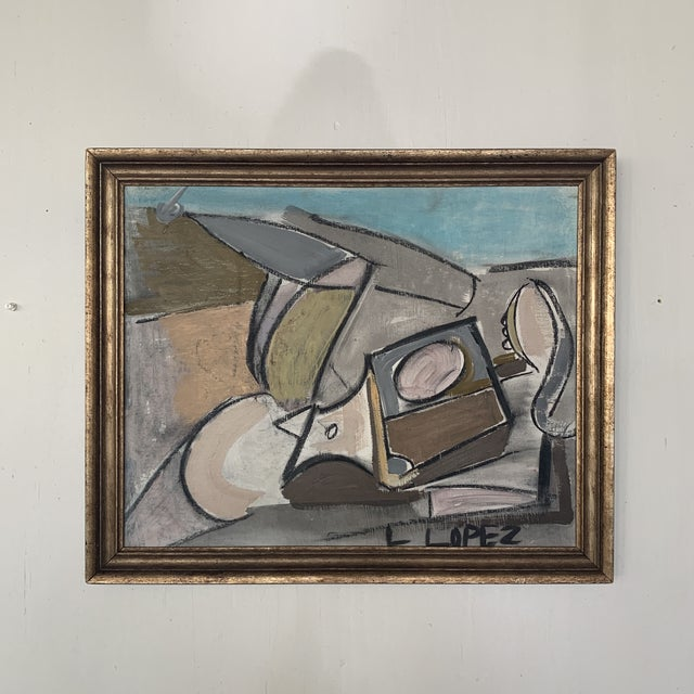 1980s Framed Charcoal Abstract Drawing For Sale - Image 13 of 13