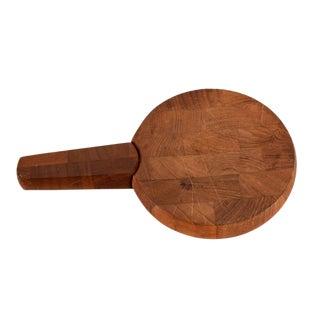 Mid Century Danish Modern Dansk Teak Cutting Board with Knife