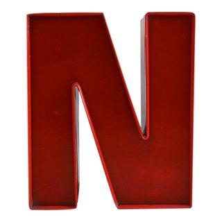Vintage Red Sign Letter N For Sale