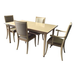 French Provincial Grange Dining Set - 5 Pieces For Sale