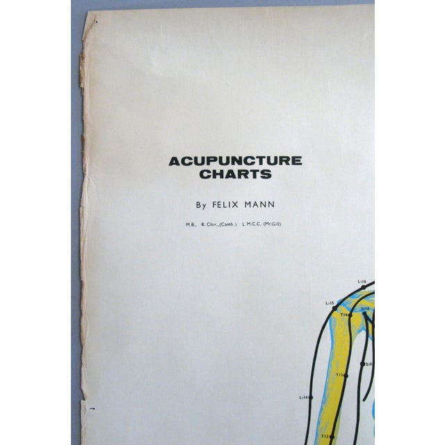 1960s Vintage Acupuncture Serigraphs on Linen by Felix Mann - Set of 3 For Sale - Image 5 of 12