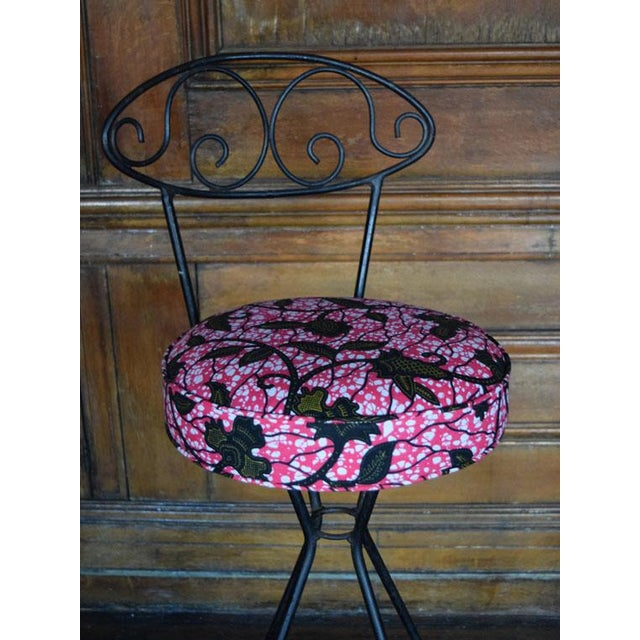Vintage Wrought Iron Swivel Bar Stools - A Pair - Image 5 of 6