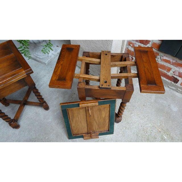 Oak Vintage Mid-Century English Draw Leaf Tea Table For Sale - Image 7 of 11