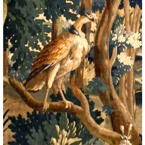 Traditional Antique Verdure Tapestry For Sale - Image 3 of 6