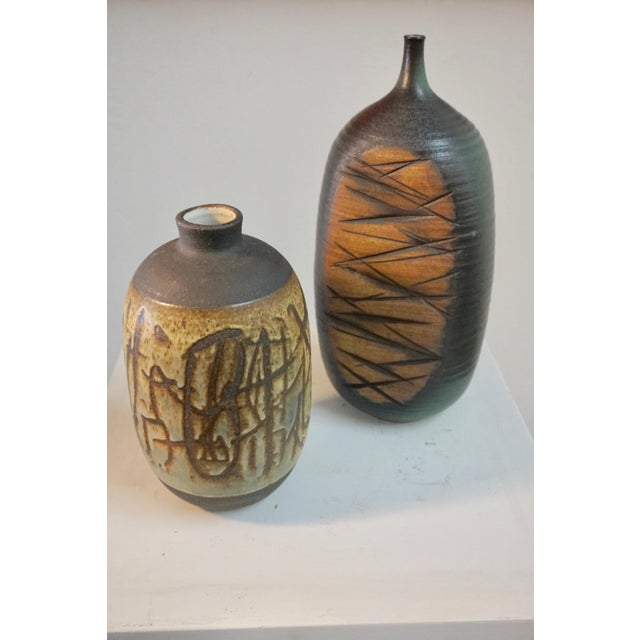 Tim Keenan Abstract Ceramic Vessels - a Pair For Sale - Image 11 of 11