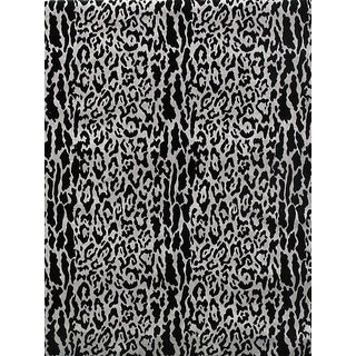 Sample, Scalamandre Snow Leopard, Silver Shadow Fabric For Sale