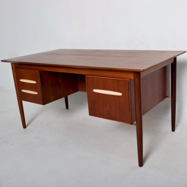 Mid-Century Danish Modern Koford Larsen Era Teak Receiving Desk Bookshelf For Sale - Image 11 of 11