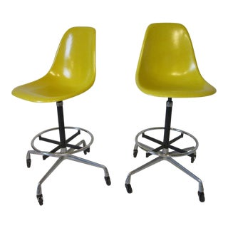 Charles/ Ray Eames Architectural Bar Stools or Drafting Stools