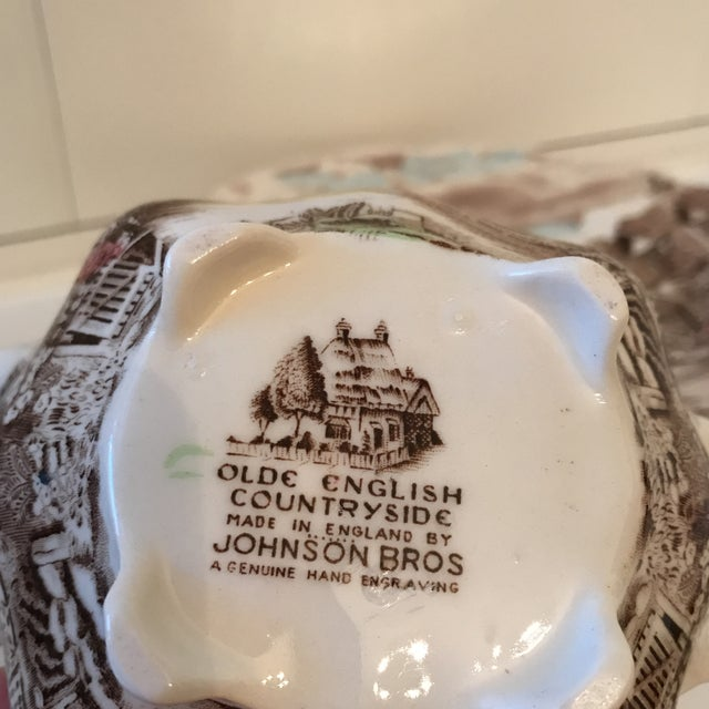 1960s Vintage Johnson Bros Olde English Countryside Serving Set - 17 Pieces For Sale - Image 11 of 13