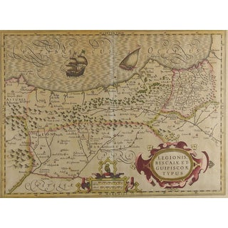 1628 Map of Spainish Coast For Sale