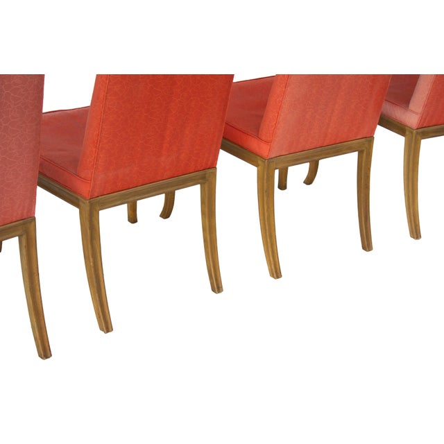 Dining Chairs by t.h. Robsjohn-Gibbings for Baker - Set of 4 For Sale - Image 9 of 11
