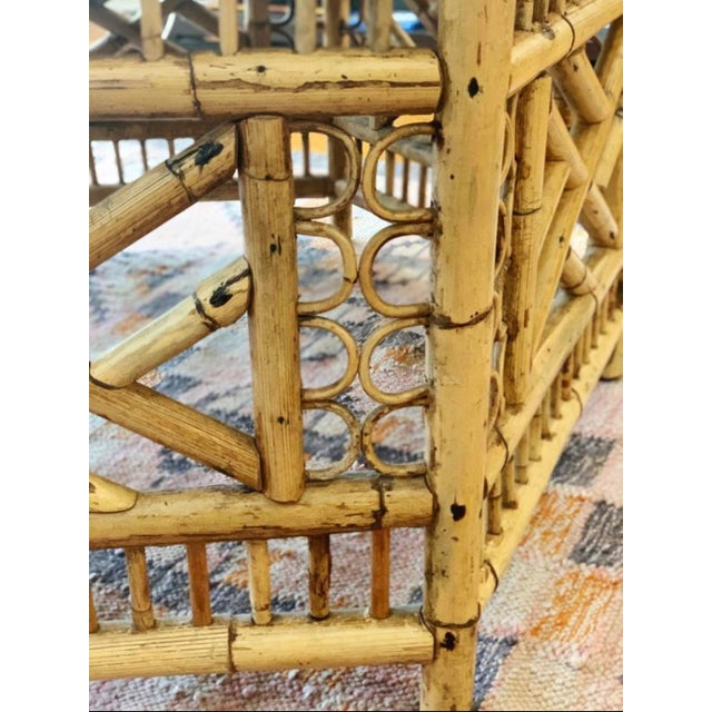 Mid 20th Century Vintage Mid-Century Boho Chic Rattan Coffee Table For Sale - Image 5 of 7