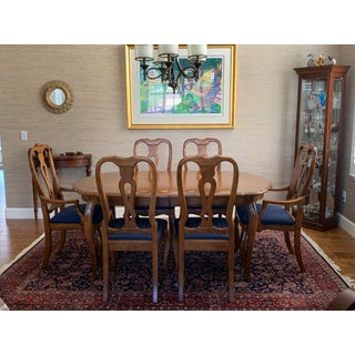 1990s Vintage Ethan Allen Country French Dining Table & Chairs- 7 Pieces Preview