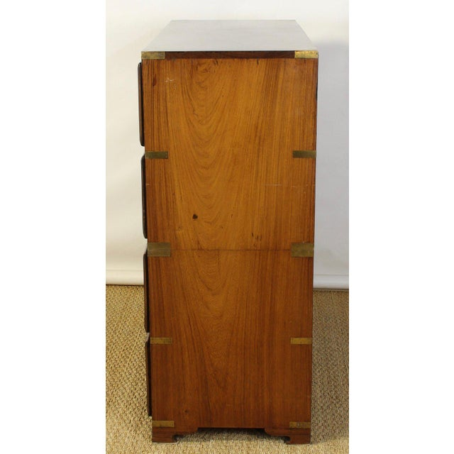 English Rosewood Campaign Chest of Drawers For Sale In Richmond - Image 6 of 13