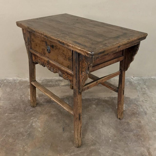 19th Century Chinese Console ~ Cabinet was fashioned by talented rural artisans to create a functional yet charming raised...