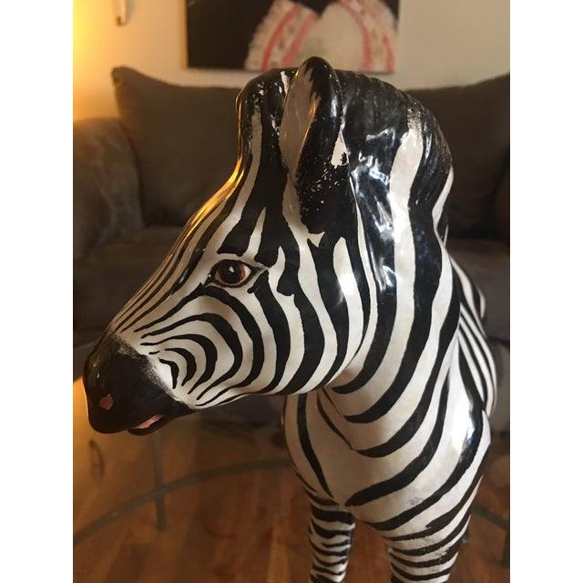 Ceramic Italian Terra Cotta Zebra For Sale - Image 7 of 9