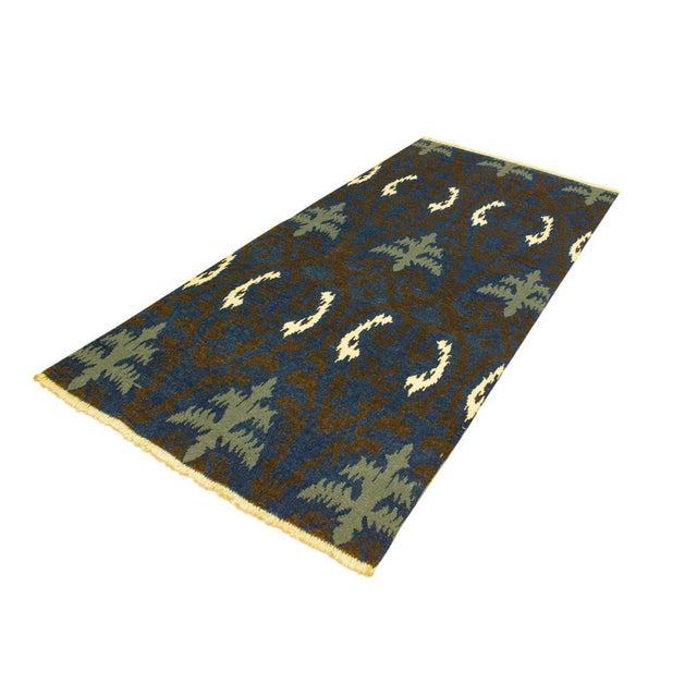 Cianna Modern Ramonita Blue/Ivory Wool & Viscouse Rug - 4'1 X 6'3 For Sale - Image 4 of 8