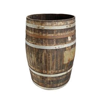Vintage Wood & Iron Barrel For Sale