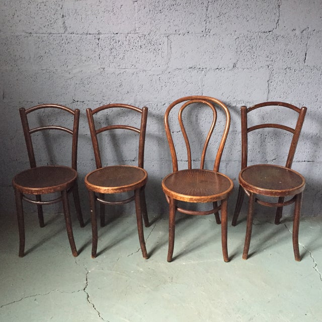 Thonet Bentwood Cafe Chairs - Set of 4 - Image 2 of 11