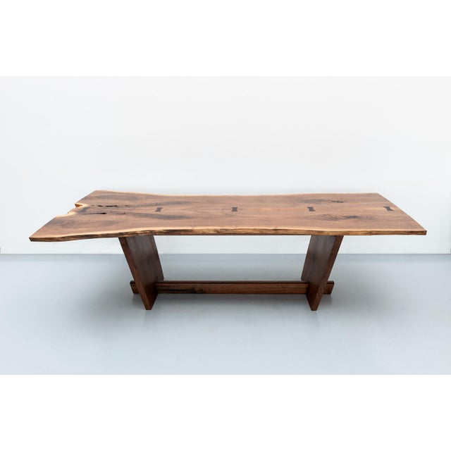 Substantial and impressive dining table by Mira Nakashima created for the Objects of Art Exhibition in Santa Fe, August,...