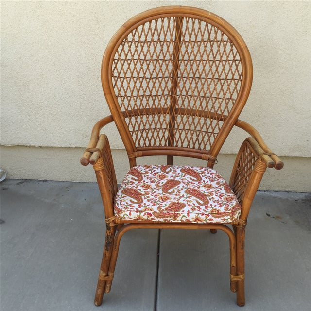 Vintage Rattan Bamboo Chair - Image 3 of 11