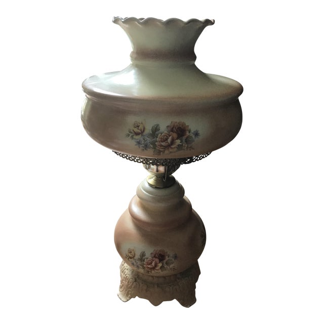 Vintage Hurricane Parlor Lamp - Image 1 of 6