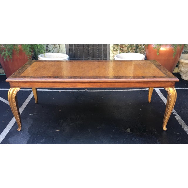 French Spectacular Carved French Dining Table W Palm Leaf Leg by Randy Esada Designs For Sale - Image 3 of 7