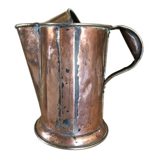 Late 19th Century Antique Copper Watering Can For Sale