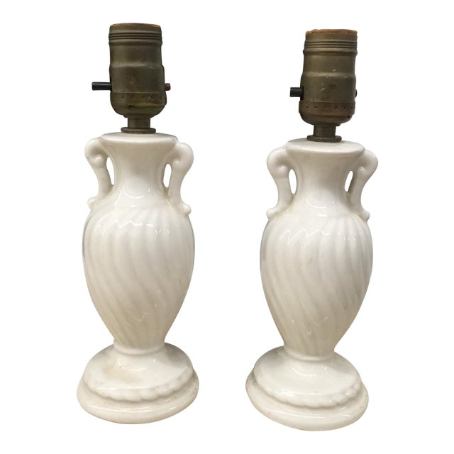 Vintage Petite Urn Shaped Lamps - a Pair For Sale