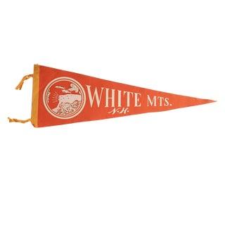 Vintage White Mts. n.h. Felt Flag Pennant
