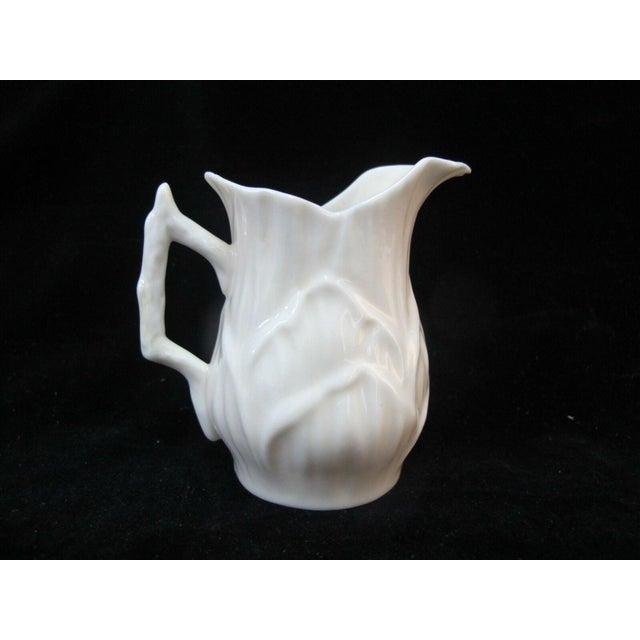 Ceramic Belleek Vintage Black Mark Creamer Pitcher With Lily Design For Sale - Image 7 of 7