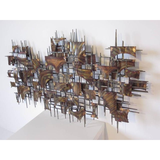 Metal Silas Seandel Styled Large Brutalist Wall Sculpture For Sale - Image 7 of 7