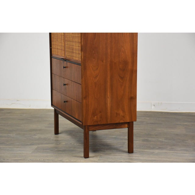 Wood Jack Cartwright for Founders Walnut Armoire Dresser For Sale - Image 7 of 11