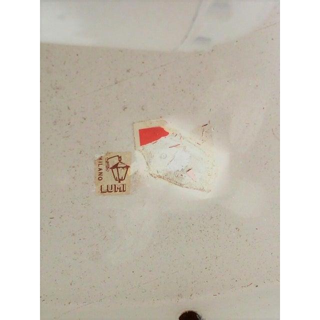 Lumi 1960s Italian Oscar Torlasco Round Glass Pendant Lantern For Sale - Image 4 of 5