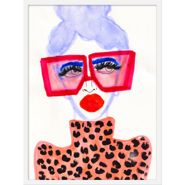 """Contemporary Medium """"Colorful Girl"""" Print by Kendra Dandy, 24"""" X 32"""" For Sale - Image 3 of 3"""
