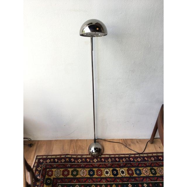 Mid-Century Modern Sonneman Style Tilting Head Chrome Floor Lamp For Sale - Image 4 of 7