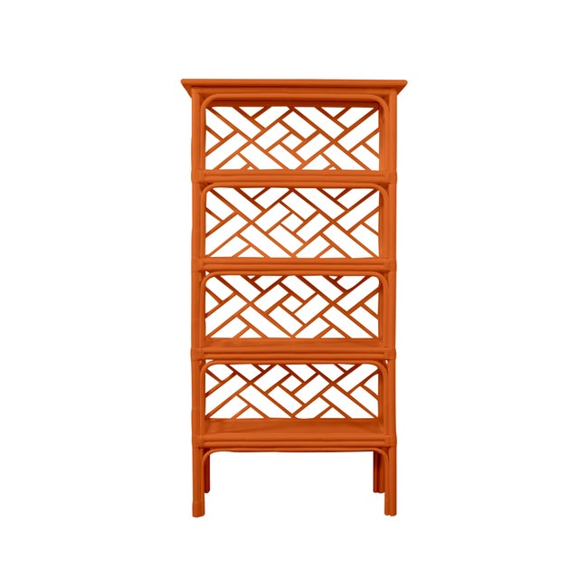 Chippendale Chippendale Etagere - Orange For Sale - Image 3 of 5