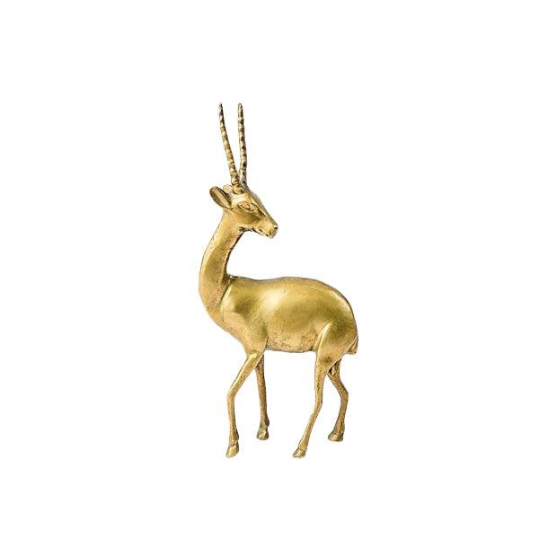 Brass Gazelle Figurine For Sale