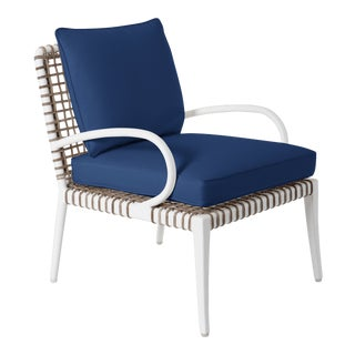 Delta Beta Arm Chair in Pacific Blue For Sale
