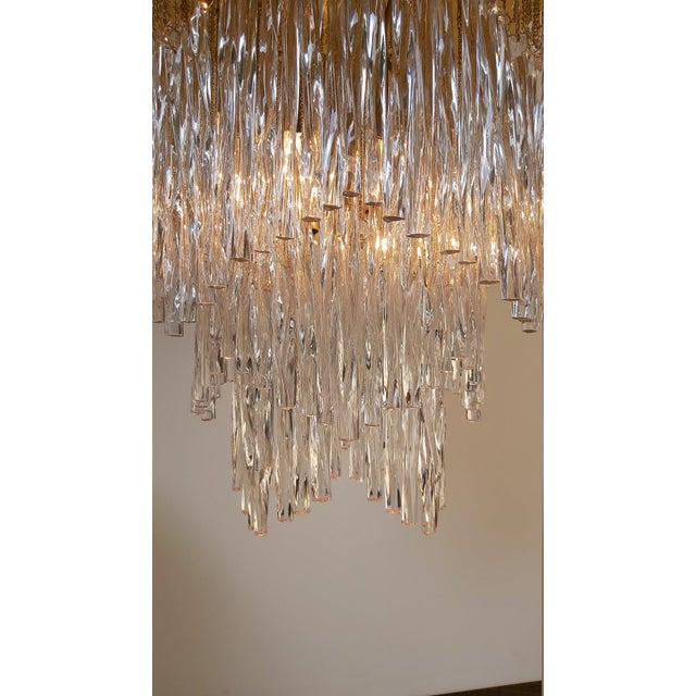 1970s Vintage Mid-Century Murano Glass Chandelier Fixture For Sale - Image 5 of 11