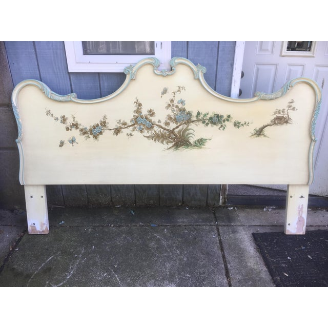 Asian Asian Style Hand Painted King Headboard For Sale - Image 3 of 7