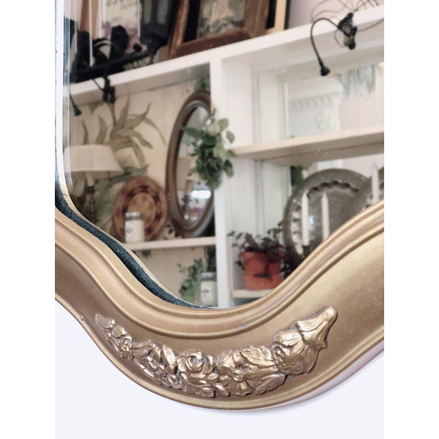 Traditional Petit Golden Wall Mirror For Sale - Image 3 of 4