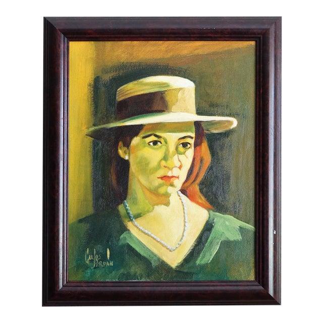 Carlos Jordan Vintage Portrait of a Woman - Image 1 of 5