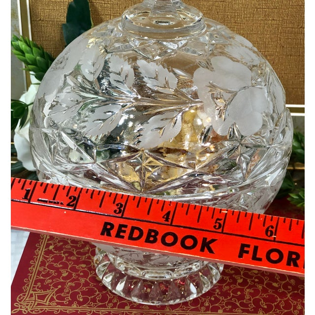 Vintage Crystal Dishes With Lids - Set of 3 For Sale - Image 9 of 12