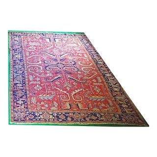 Early 20th Century Antique Heriz Carpet - 7′7″ × 10′7″ For Sale