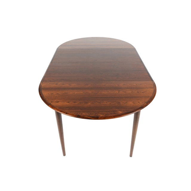 Rosewood Circular Dining Table With Two Leaves - Image 9 of 10