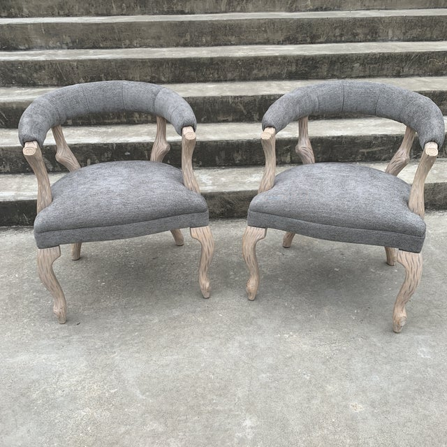 1970s Faux Bois Bergere Accent Chairs - a Pair For Sale - Image 11 of 11