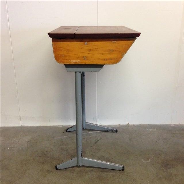 Vintage French Child's School Desk - Image 3 of 7
