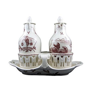 French Aesthetic Taste O&V Cruet Set For Sale