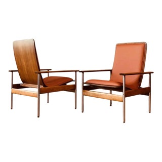 Vintage Sven Ivar Dysthe Norwegian Armchairs With New Upholstery - a Pair (Sold) For Sale